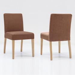 ALFO Stuhl Polsterstuhl Microfaser Beine aus Buche oder Eiche