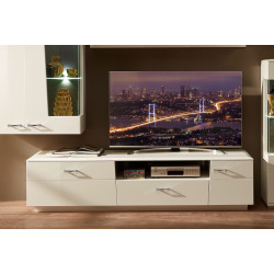 ALIBABA TV-Lowboard 200 cm 1-trg weiß hochglanz