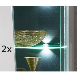 BELEUCHTUNG 2er Set LED Clip Zeta 3S Glaskantenbeleuchtung
