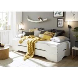 Stapelbetten-Set 2x 90x200 cm Kiefer massiv weiß Amrum