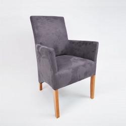 ANATOL small-M Sessel Armlehnstuhl Microfaser, Gestell Buche oder Eiche