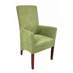 ANATOL XL Sessel Armlehnstuhl Microfaser Beine aus Buche oder Eiche