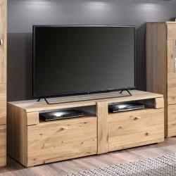 AUXERRE TV- Lowboard 141 cm 2-Sk Alteiche teilmassiv