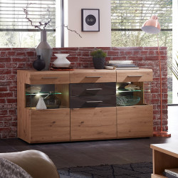 BAJAZZO TWO Sideboard 3-trg Eiche MDF