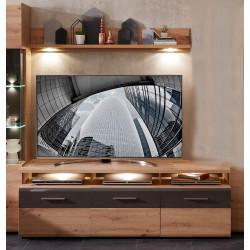 BAJAZZO TV-Lowboard + Wandboard Eiche MDF