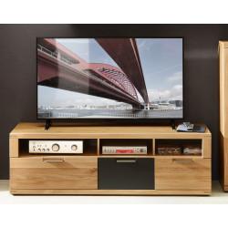 BIANCO TV-Lowboard 160 cm Wildeiche Bianco teilmassiv