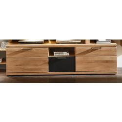 BIANCO TV-Lowboard 180 cm Wildeiche Bianco teilmassiv