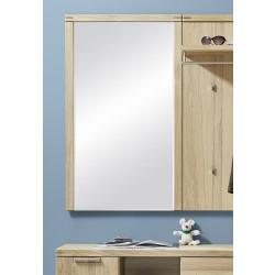 Garderoben-Spiegel aus Eiche massiv Bianco 70 cm breit