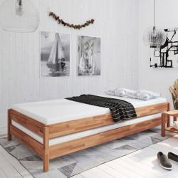 BORKUM Stapelbetten 2x 90x200 Gästebett Kernbuche geölt + Matratzen ESTER H3