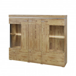 BASEL Highboard 3-trg Alteiche teilmassiv