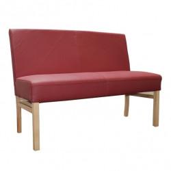 SOPHIE Sitzbank 90 cm in Echtleder Beine aus Buche oder Eiche