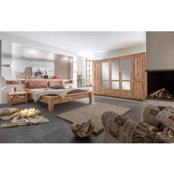 TORONTO Schlafzimmer aus Asteiche Schrank 5-trg Bett 200x200 2 Nakos