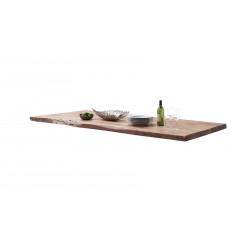 CALVERA Tischplatte 220x100 5,5 cm Akazie natur lackiert