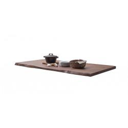 CALVERA Tischplatte 220x100 5,5 cm Akazie Walnuss lackiert