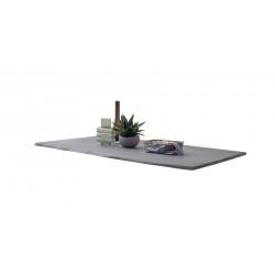 CALVERA Tischplatte 160x90 2,5 cm Akazie grau sandgestrahlt lackiert
