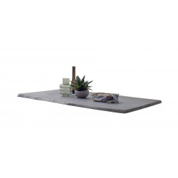 CALVERA Tischplatte 180x100 3,5 cm Akazie grau sandgestrahlt lackiert