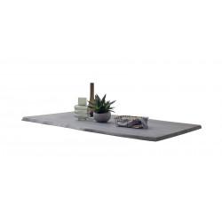CALVERA Tischplatte 200x100 3,5 cm Akazie grau sandgestrahlt lackiert