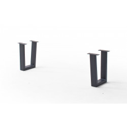 CALVERA Bankgestell Trapezform anthrazit lackiert 2er Set