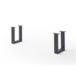 CALVERA Bankgestell U-Form anthrazit lackiert 2er Set