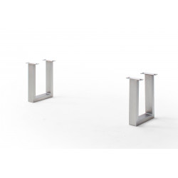CALVERA Bankgestell U-Form Edelstahl gebürstet 2er Set