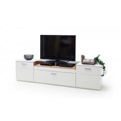 CESINA von MCA TV-Lowboard 240 cm 2-trg 1-Sk weiß matt & Asteiche