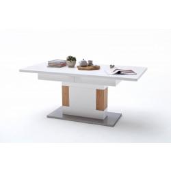 CESINA von MCA Esstisch 180x90 auf 230 cm ausziehbar weiß matt & Asteiche