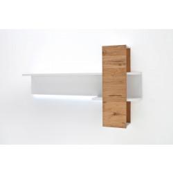 CESINA von MCA Wandregal 170 cm weiß matt & Asteiche