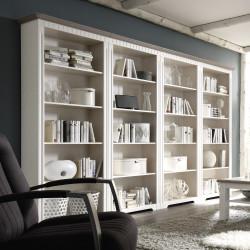 Bücherregale weiß aus Massivholz Kiefer Serie CORDOBA