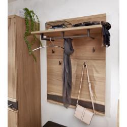 CRUSTY Garderobenpaneel mit Boden Wildeiche teilmassiv