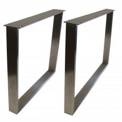 STEEL Esstischgestell Edelstahlrahmen 100x73 cm Profil 80x20 mm