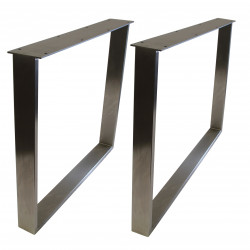 STEEL Esstischgestell Edelstahlrahmen 90x73 cm Profil 80x20 mm
