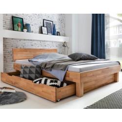 CELINE Bett mit Bettschublade Kernbuche massiv geölt 140x200