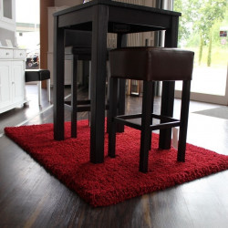 TEPPICH Luxus Shaggy Teppich rot 160x230 cm