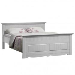 GRANADA Bett Doppelbett massiv Kiefer weiß