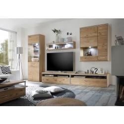 Wohnwand Eiche bianco 5 teilig Espero von MCA Furniture