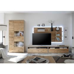 Wohnwand Eiche bianco 4 teilig Espero von MCA Furniture