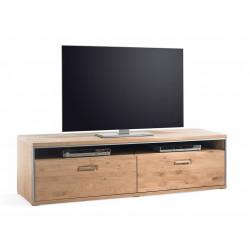 TV-Lowboard Eiche bianco 184 cm mit 2 Schubladen teilmassiv Espero