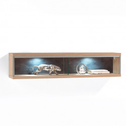 ESPERO Wandregal 124 cm Breite aus Asteiche BIANCO