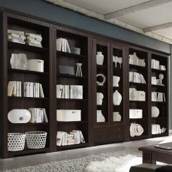 CORDOBA Regal Vitrine Bibliothek Kiefer massiv kolonial lackiert