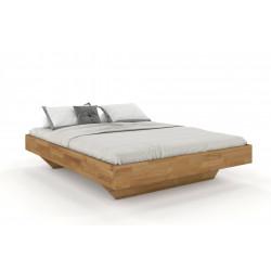 FLORENZ Doppelbett in Schwebeoptik ohne Kopfteil 200x200 aus massiver Eiche