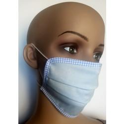 Wiederverwendbare Gesichtsmaske aus Baumwolle blau in bayrischem Stil