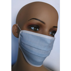 Wiederverwendbare Gesichtsmaske aus Baumwolle blau