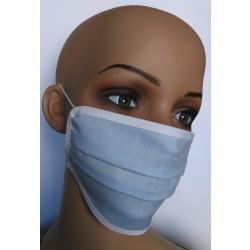 Wiederverwendbare Gesichtsmasken aus Baumwolle blau