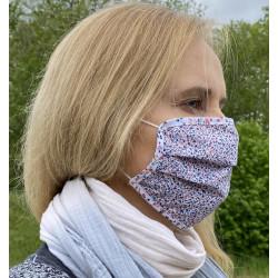 Gesichtsmaske aus Baumwolle mit bunten Blümchen