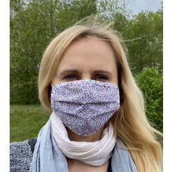 Gesichtsmaske wiederverwendbar mit Blumen Muster