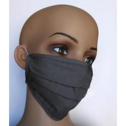 Wiederverwendbare Gesichtsmaske aus Baumwolle grau