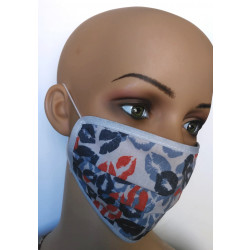 Gesichtsmaske mit Kussmuster wiederverwendbar aus Baumwolle