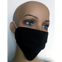 Wiederverwendbare Gesichtsmaske aus Baumwolle schwarz
