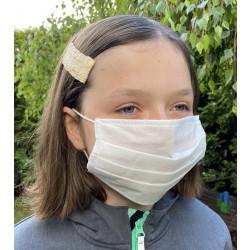 Wiederverwendbare Gesichtsmaske aus Vlies weiß 5er Pack