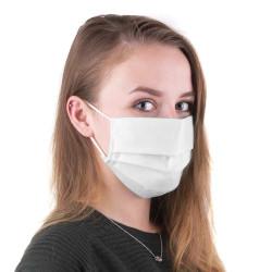 Wiederverwendbare Mund- und Nasenmasken aus Vlies weiß 5er Pack